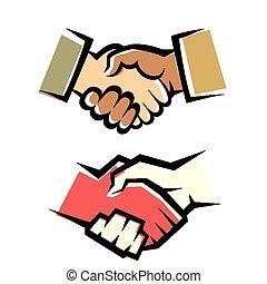 aperto mão, vetorial, símbolo, jogo