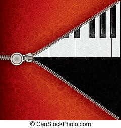 aperto, pianoforte, jazz, chiusura lampo, fondo