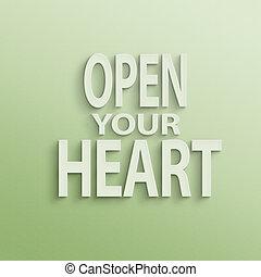 aperto, tuo, cuore
