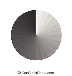 apertura, grigio, vettore, illustrazione