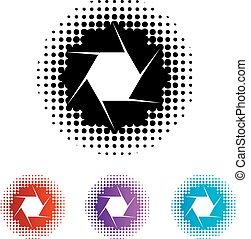 apertura, logotipo, fotografia