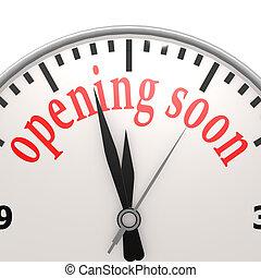 apertura, presto, orologio