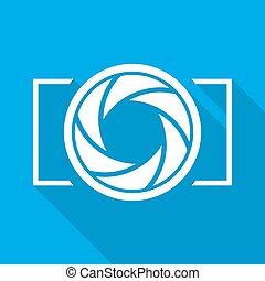 Aperture diaphragm icon. Vector illustration - Focus icon....
