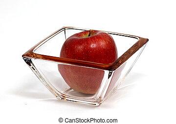 Apfel in tasse