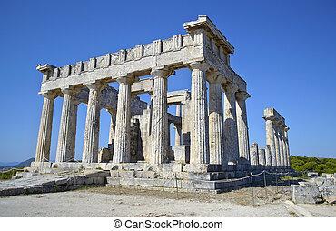 aphaia,  aegina, Templo, Grécia
