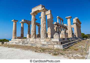 aphaia,  aegina, Templo, ilha, Grécia