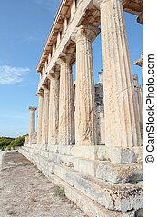 aphaia, sloupec, chrám, dórský