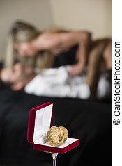 Aphrodisiac white truffle of Piedmont Italy