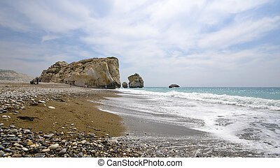 Aphrodite birth place in Cyprus - Aphrodite birth place with...