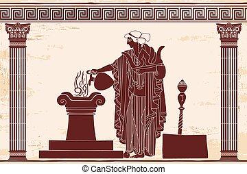 aphrodite., déesse, grec, ancien