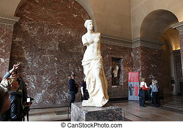Aphrodite of Milos At the Louvre Museum, 2013 Paris, France...