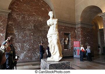 Aphrodite of Milos At the Louvre Museum, 2013 Paris, France....