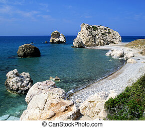 Aphrodite's birthplace on the island of Cyprus