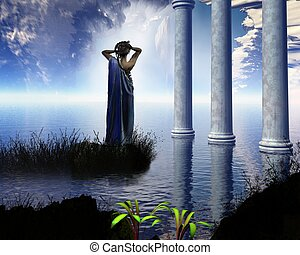 Aphrodite's Grotto - Aphrodite the Greek goddess of love,...