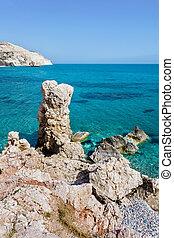 Aphrodite's Rock beach near Cyprus island