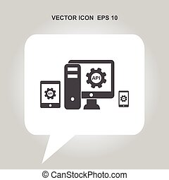 API, application programming interface vector icon