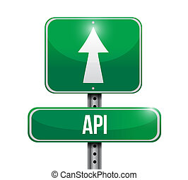 Api street sign concept illustration design