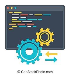 API Vector Icon - Computer programming, application...