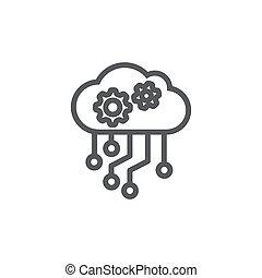 API Vector Icon on white background