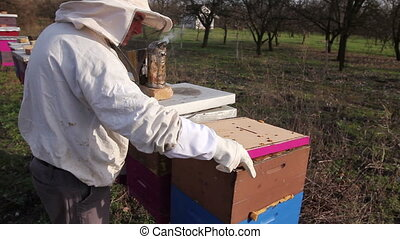Apiarist is control situation with supplemental feeding with...