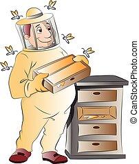 apicultor, ilustración