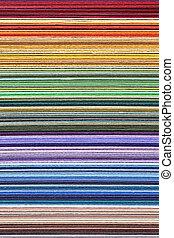 apilado, colorido, color, -, papel, muestras