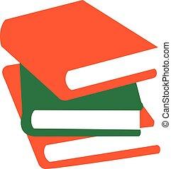 apilado, libros, pila
