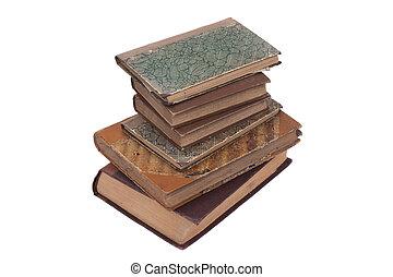 apilado, viejo, vendimia, libros