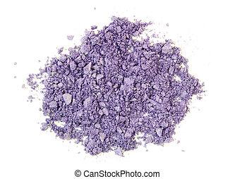 aplastado, púrpura, eyeshadow