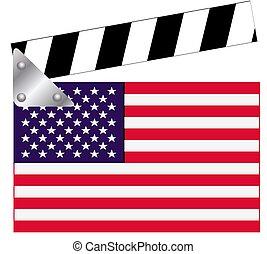 aplaudidor, bandeira, tábua, eua