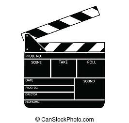 aplaudidor, filme, vetorial, tábua