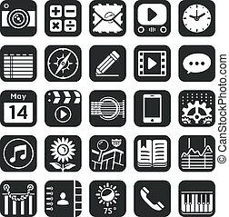 aplicação, ícones