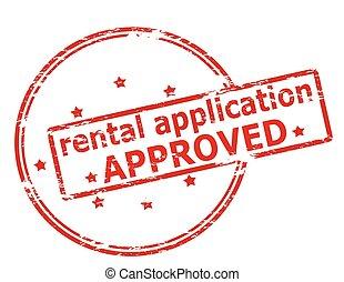 aplicação, aluguel, aprovado