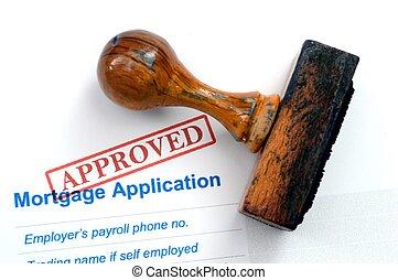 aplicação, -, aprovado, hipoteca