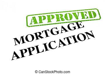 aplicação, aprovado, hipoteca