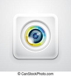 aplicação, câmera, ícone