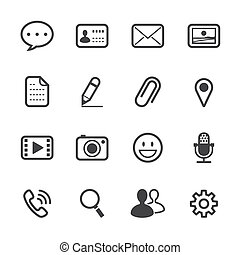 aplicação, conversa, ícones