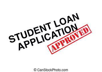 aplicação, empréstimo, aprovado, estudante