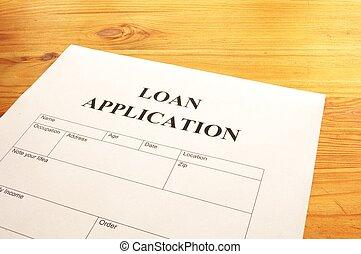 aplicação, empréstimo