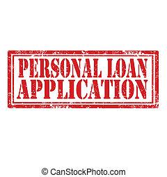 aplicação, empréstimo, pessoal