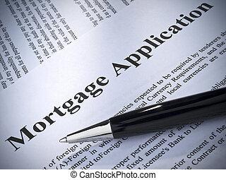 aplicação, hipoteca