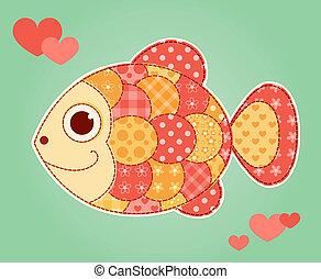 aplicação, peixe