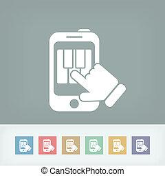 aplicação, piano, ícone