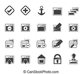 aplicação, programação, ícones