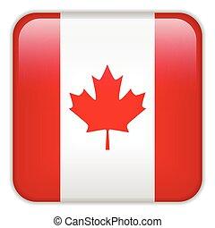aplicação, smartphone, bandeira canadá