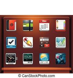 aplicações, ícones