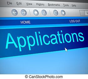 aplicações, concept.
