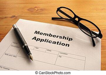 aplicación, calidad de miembro