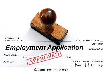 aplicación, empleo, -, aprobado