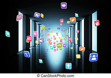 aplicación, informática, iconos